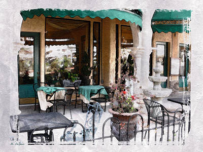Photograph - Outdoor Cafe by Michele A Loftus