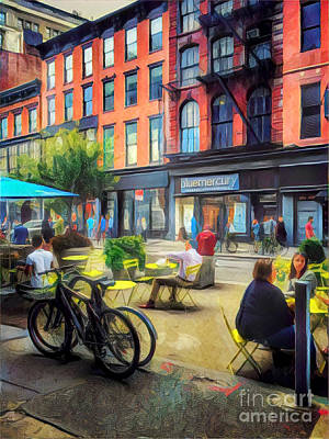 Photograph - Outdoor Cafe - Summer In New York by Miriam Danar