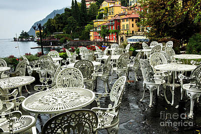 Photograph - Outdoor Cafe Varenna by Ben Graham
