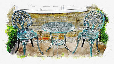 Outdoor Dining Art Print
