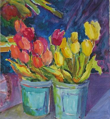 Outdoor, Flower Market Print by Sue Johns