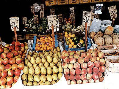 Photograph - Outdoor Fruit Stand - Venice, Italy by Merton Allen
