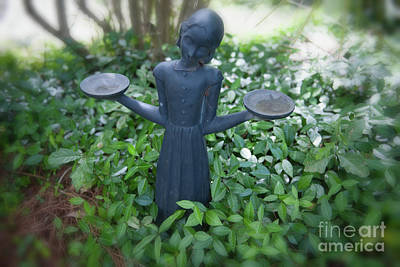 Photograph - Outdoor Garden Sculpture by Dale Powell