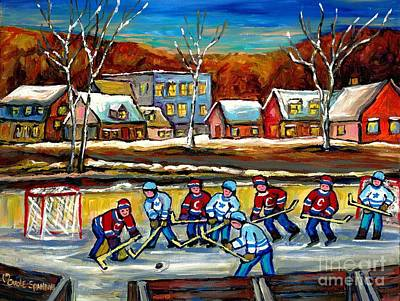 Painting - Outdoor Hockey Rink by Carole Spandau