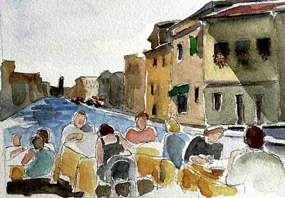 Painting - Outdoor Lunch by Janet Butler