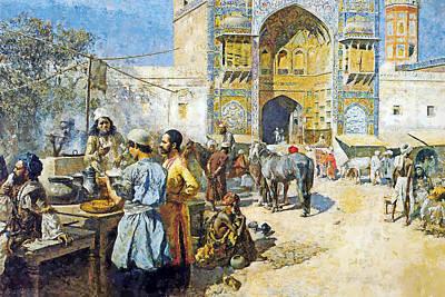 Painting - Outdoor Market by Munir Alawi