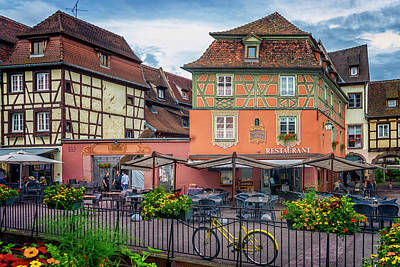 Photograph - Outdoor Restaurant Colmar France_dsc7098_16 by Greg Kluempers