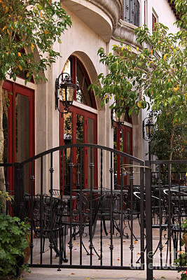 Photograph - Outdoor Restaurant by James Eddy