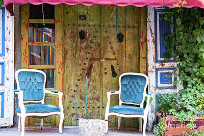 Balat Photograph - Outdoor Seating by Bob Phillips