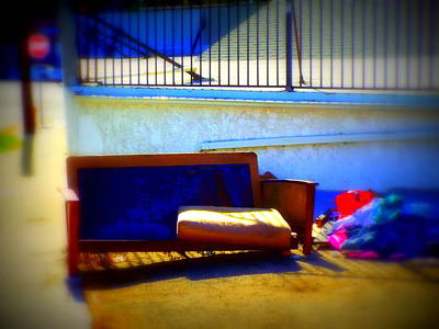 Photograph - Outdoor Seating W Various Discards by Kimberly-Ann Talbert