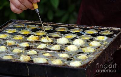 Photograph - Outdoor Vendor Cooks Quail Eggs by Yali Shi