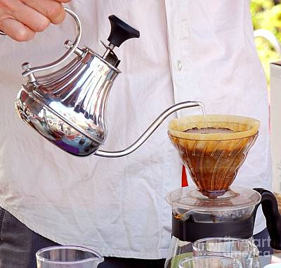 Photograph - Outdoor Vendor Makes Coffee by Yali Shi