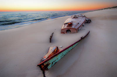 Photograph - Outer Banks Beached Beauty At Sunrise by Dan Carmichael