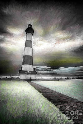 Digital Art - Outer Banks Bodie Lighthouse Original Ap by Dan Carmichael