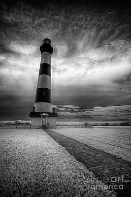 Photograph - Outer Banks Bodie Lighthouse Original Ir by Dan Carmichael