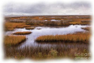Digital Art - Outer Banks Cedar Island Swamp Grass Ap by Dan Carmichael