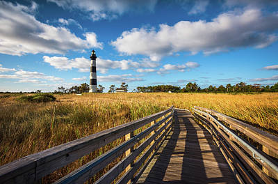 Photograph - Outer Banks Nc Bodie Island Lighthouse Scenic Landscape by Dave Allen