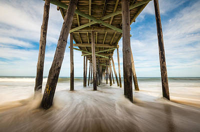 Photograph - Outer Banks Nc Nags Head Fishing Pier Obx by Dave Allen