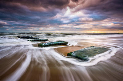 Photograph - Outer Banks North Carolina Beach Sunrise Seascape Photography Obx Nags Head Nc by Dave Allen