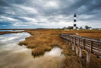Photograph - Outer Banks North Carolina Bodie Island Lighthouse Landscape Nc by Dave Allen