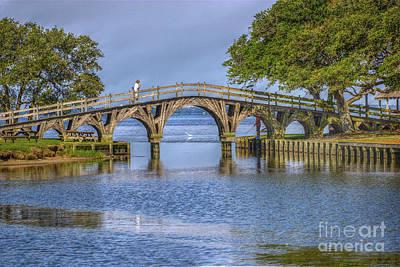 Outer Banks Whalehead Club Bridge  Art Print by Randy Steele