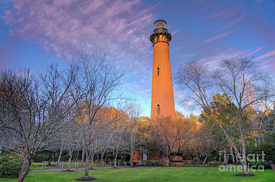Photograph - Outer Banks Winter At The Currituck Lighthouse by Dan Carmichael