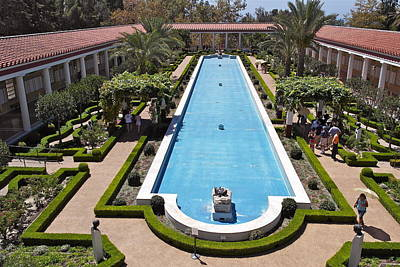 Photograph - Outer Peristyle Of Getty Villa by Michele Myers