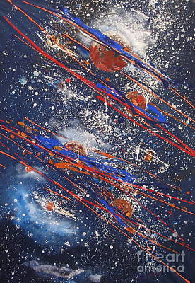 Outer Space Art Print by Miroslaw  Chelchowski