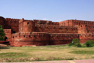 Photograph - Outer Walls Of The Red Fort, Agra, India by Aidan Moran