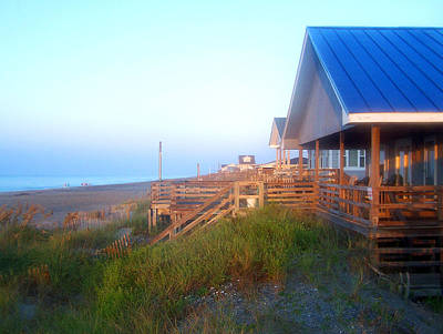 Art Print featuring the photograph Outerbanks Sunrise At The Beach by Sandi OReilly
