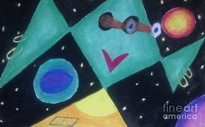 Terrestrial Sphere Painting - Outermost Being Looking In by Brenda Robinson