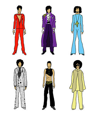 Prince Digital Art - Outfits Of Prince by Notsniw Art