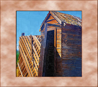 Art Print featuring the photograph Outhouse 2 by Susan Kinney