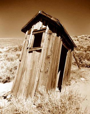 Western Ghost Town Photograph - Outhouse At Bodie by David Lee Thompson