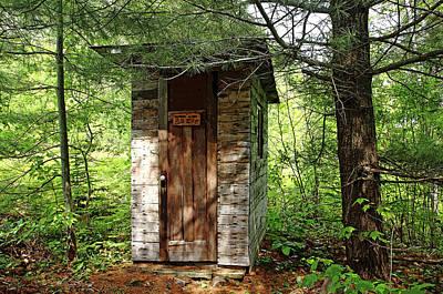 Photograph - Outhouse Bathroom Alarm by Debbie Oppermann