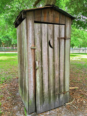 Photograph - Outhouse by Denise Mazzocco