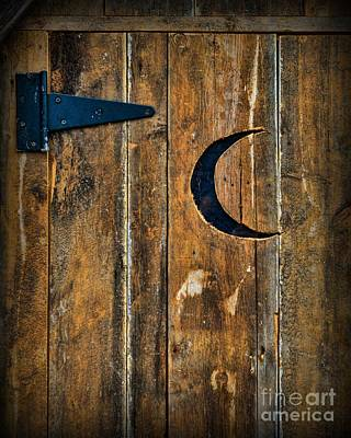 Old Wood Outhouse Photograph - Outhouse Door  by Paul Ward