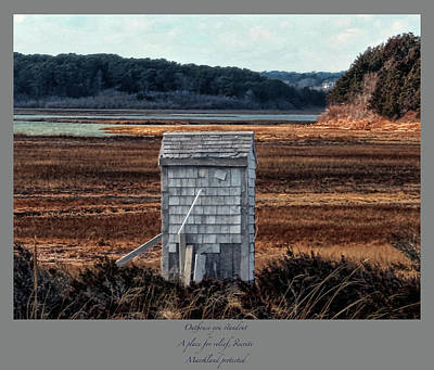 Photograph - Outhouse Haiku by Constantine Gregory