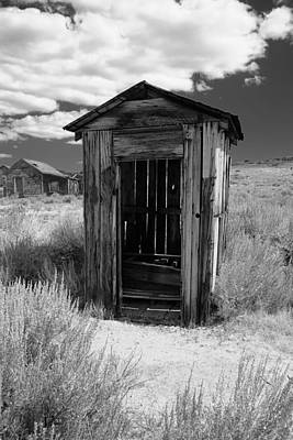 Outhouse In Ghost Town Art Print by George Oze