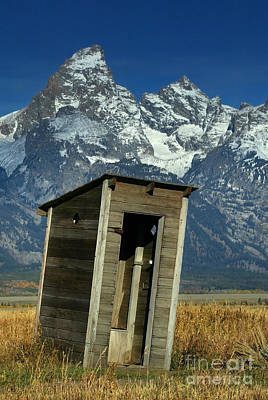 Outhouse Art Print by Jean-Louis Klein & Marie-Luce Hubert