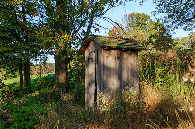 Pennsylvania Photograph - Outhouse - Valley Forge Pa by Bill Cannon