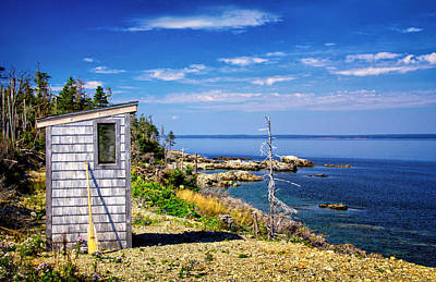 Photograph - Outhouse With A View by Carolyn Derstine