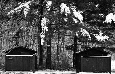 Photograph - Outhouses In The Cold by Jenny Regan
