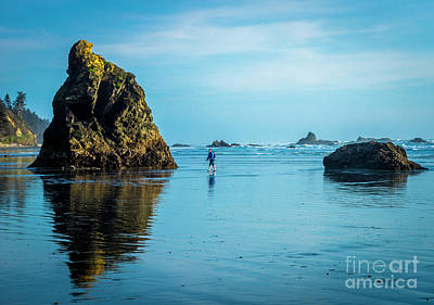 Outing In Ruby Beach,wa Art Print