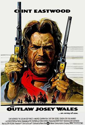 Outlaw Josey Wales The Art Print by Movie Poster Prints