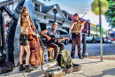 Photograph - Outlaw Ritual Busker Band by John Haldane