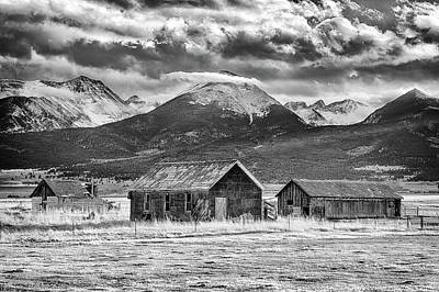 Crestone Photograph - Outliers In Monochrome by Eric Glaser