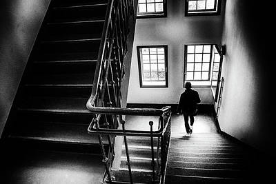 Street Black White Photograph - Outlook - Street Photography Berlin by Frank Andree