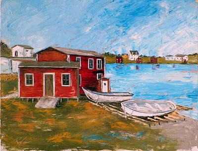 Painting - Outport 1 by RB McGrath