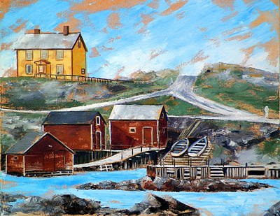 Painting - Outport 2 by RB McGrath